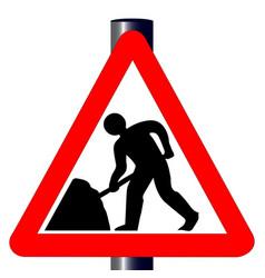 roadworks traffic sign vector image