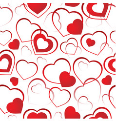 seamless background with hearts 4 vector image