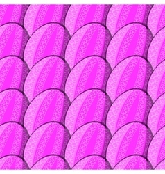 Seamless pattern of eggs with curl vector