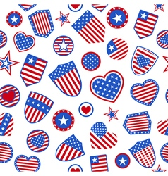 Seamless pattern of USA symbols vector image