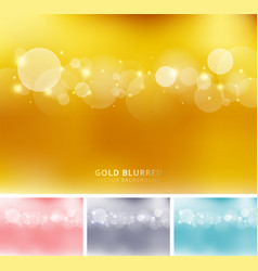 Set of abstract gold pink gray blue color vector