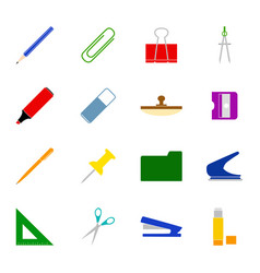 Set stationery icons vector