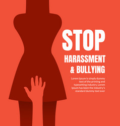 Sexual harassment violence stop poster sexual vector