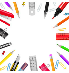 stationery realistic frame vector image