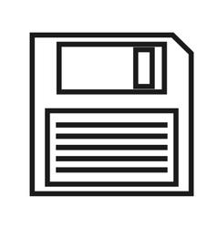 Storage disk icon vector