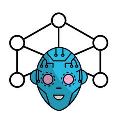 technology digital face vector image