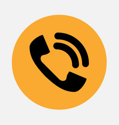 Telephone icon isolated vector