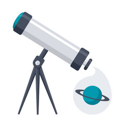 Telescope for astronomy vector