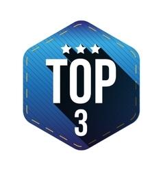 Top 5 - Five hexagon patch vector