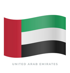 United arab emirates waving flag icon vector