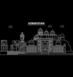 Uzbekistan silhouette skyline uzbekistan vector