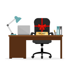 Vacant chair hr icon vector