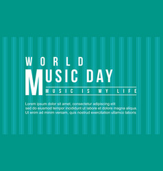 world music day flat collection vector image