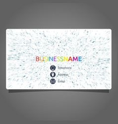 business card concept vector image vector image