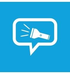 Flashlight message icon vector image vector image