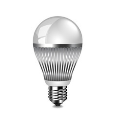 led light bulb isolated on white vector image vector image