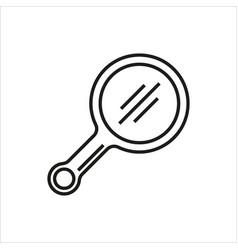 mirror line simple icon on white background vector image vector image