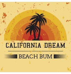 california dream typography t-shirt graphics vector image vector image