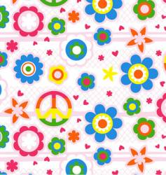 floral love background vector image vector image
