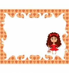 girl in devil costume vector image vector image