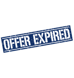 offer expired square grunge stamp vector image vector image