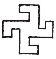 swastika design has been found in nearly all vector image vector image