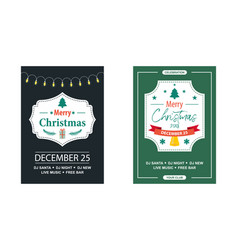vintage invitation for a christmas party vector image