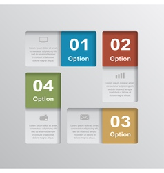 infographic 5 vector image vector image