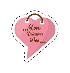 love valentines day card heart shape bubble cut vector image