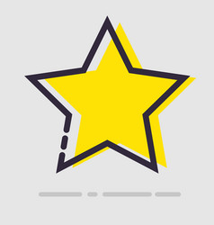 abstract flat yellow star icon vector image vector image
