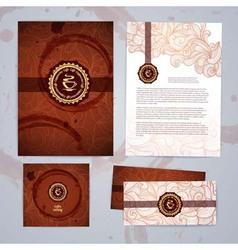 coffee concept design Corporate identity vector image