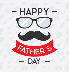 happy fathers day concept for banner invitation vector image