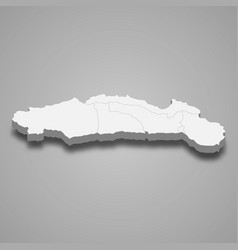 3d isometric map gorontalo is a province vector