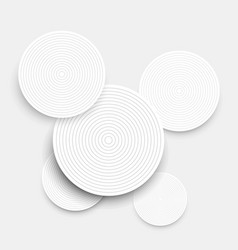 abstract background with white paper circles and vector image