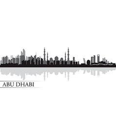 Abu Dhabi city skyline silhouette background vector image