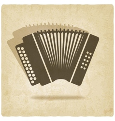 Accordion old background vector