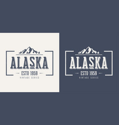 Alaska state textured vintage t-shirt and vector