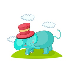 An elephant is standing vector image