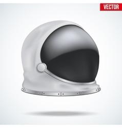 Astronaut helmet with reflection glass vector
