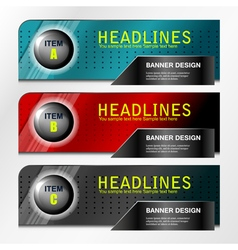 banners item design vector image