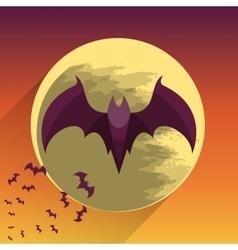 Bats on full moon vector image vector image