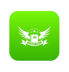 Bestseller icon green vector