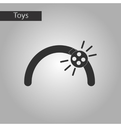 Black and white style toy ladybug vector