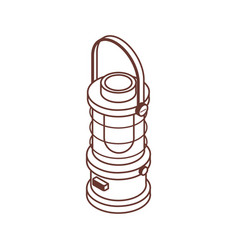 camping lantern or gas lamp isometric icon vector image