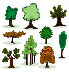 cartoon style tree vector image
