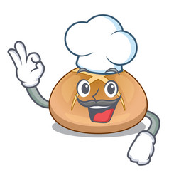 chef the hot cross buns character homemade vector image