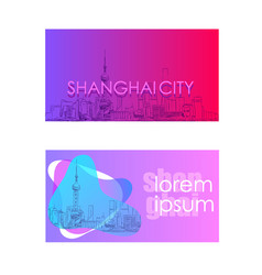 China shanghai trendy cover template hand drawn vector