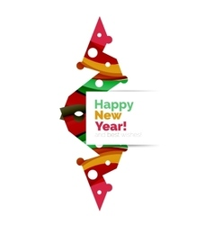 Christmas and New Year geometric paper design vector