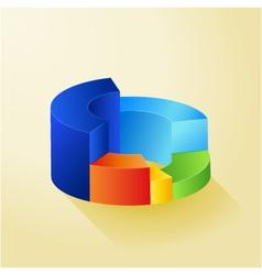 Circle colorful 3D diagram vector image