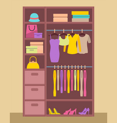 clothing store and clothes vector image